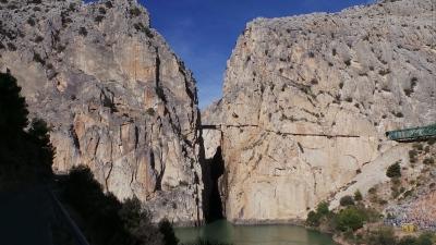 De gebergte van El Chorro.