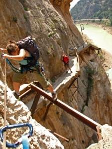el caminito del rey in el chorro malaga most dangerous part