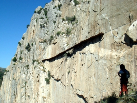 el caminito del rey in el chorro malaga remaining parts