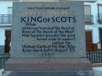 plaque robert de bruce scotland douglas days teba 2014