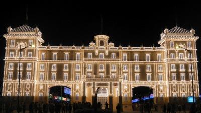 Entrance to the Night Feria of Malaga