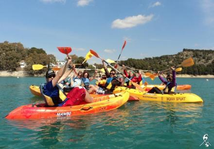 enjoy kayakin at El Chorro Indian Sports Ardales