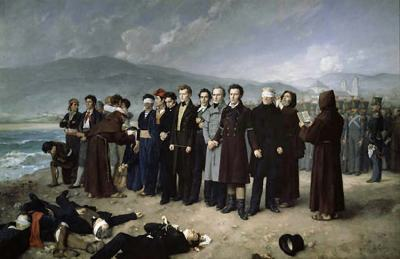 torrijos before been executed at Malaga beach