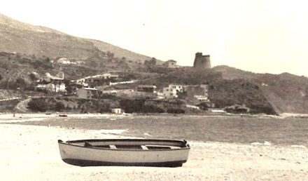 torreblanca fuengirola arab tower fortress coast from los boliches beach 1950s