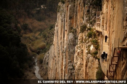 Caminito del Rey in Chorro being mapped by Google Street View