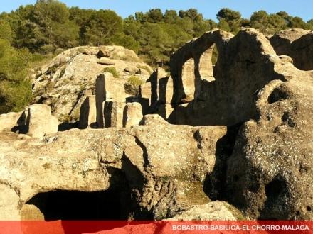 bobastro chorro caminito del rey, the church carved in stone