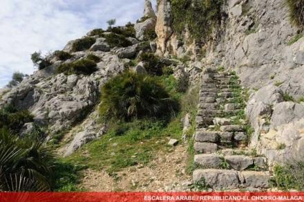 escalera arabe republicano chorro caminito del rey